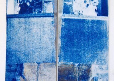Leena Nammari, From Sido's house – bair ed-darraj – stairwell, cyanotype.