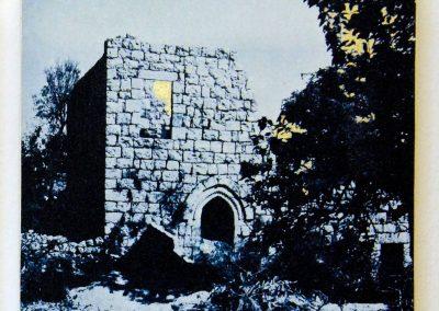 Leena Nammari, Birziet ruin, cyanotype.