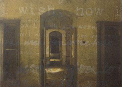 Leena Nammari, How I Wish Doors and Corridors, Screenprint and Etching, 30x30cm