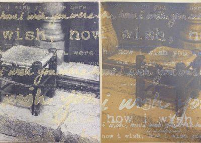 Leena Nammari, How I Wish, Etching & Screenprint (diptych) 60x30cm
