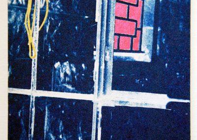Leena Nammari, From Sido's house – from the veranda- window, cyanotype.
