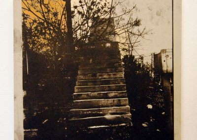 Leena Nammari, The glue that binds – stairs to nowhere, Etching